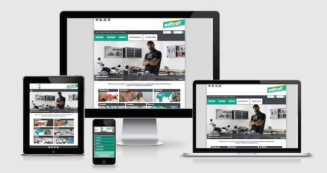 Die wolfcraft Website im Responsive Webdesign